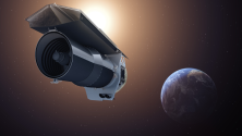 Shown here is NASA's Spitzer Space Telescope, which can observe infrared light. Credit: NASA